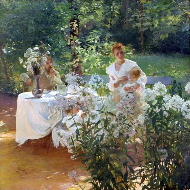 Gaston La Touche (French painter) 1854 - 1913-Les Phlox, 1889