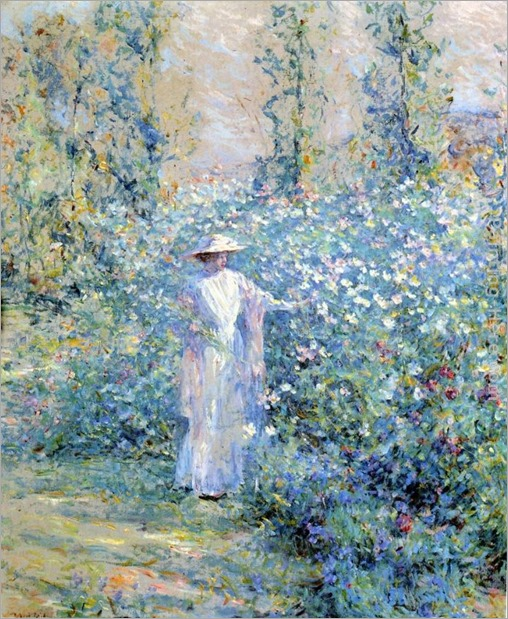 In the Flower Garden. Robert Reid (american)jpg