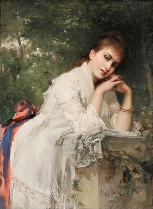Jules Louis Machard (French,1839-1900) - Meditation