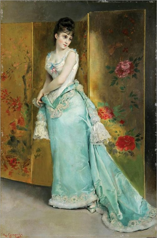 lady-in-a-blue-dress-by-rogelio de egusquiza
