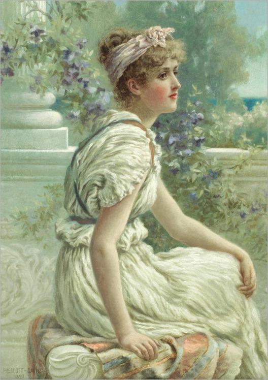 Norman Prescott-Davies (1862-1915) Summer flowers. 1893
