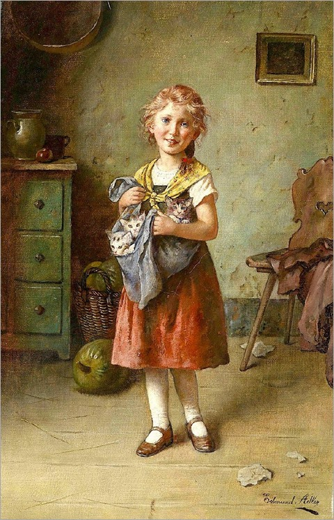 the cat mother-Edmund Adler (Austrian, 1876–1965)