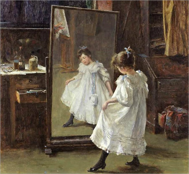 the-studio-mirror-by-Charles Martin Hardie (1858-1916)