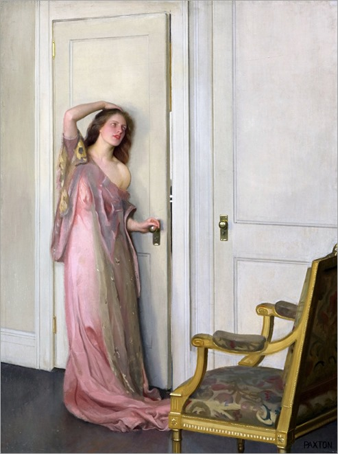 william mcgregor paxton-the other door, 1917