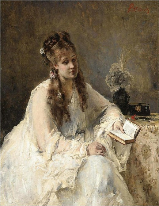 Young Woman in White - Alfred Stevens
