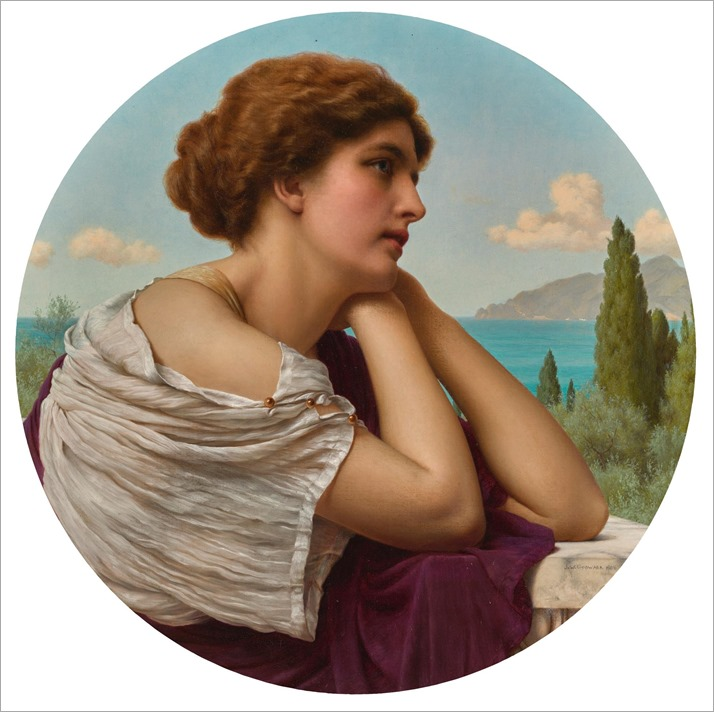 Heart On Her Lips And Soul Within Her Eyes by John William Godward