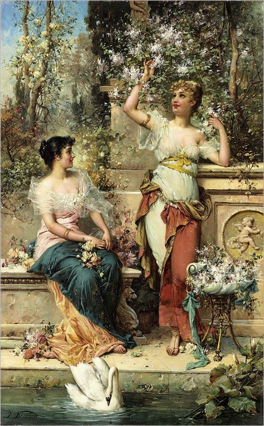 Joseph Bernard (austrian,1864-1933) Two Ladies in a Park