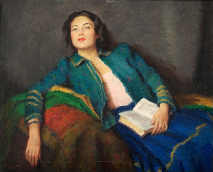 Reverie.-Janos Laszlo Aldor (Hungarian, 1895-1944)