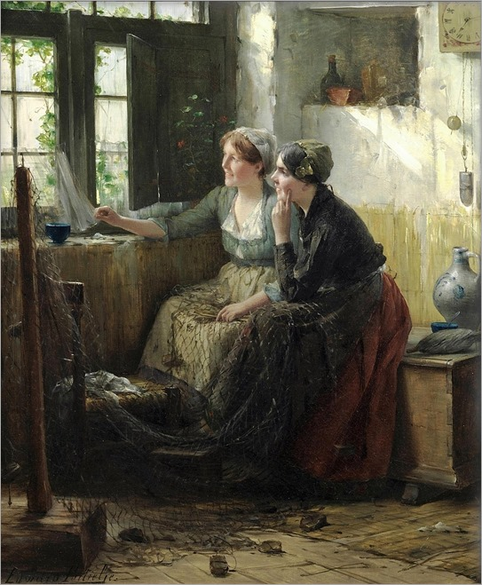 gazing out the window-Edward Antoon Portielje (1861-1949)