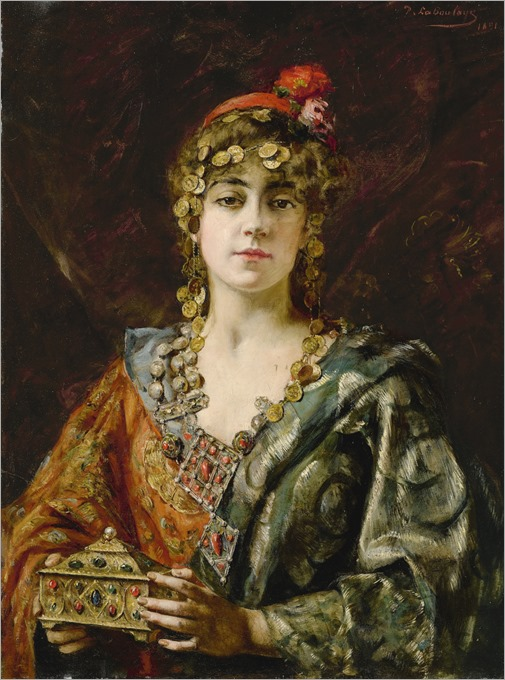 Paul-Antoine de La Boulaye (french, 1849-1926)-young oriental with jewelry