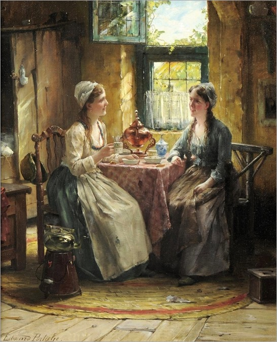 tea time-Edward Antoon Portielje (1861-1949)