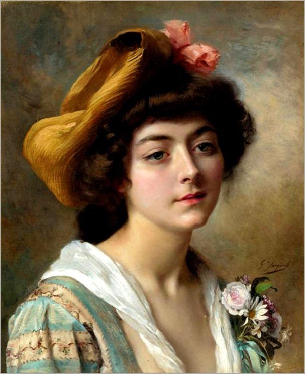 tete de fautaine-Gustave Jean Jacquet (french, 1846-1909)