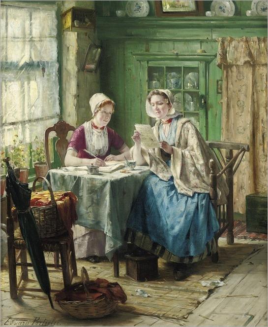 the letter-Edward Antoon Portielje (belgian, 1861-1949)