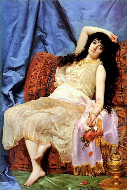 Delphine Arnould de Cool-french,1830-1921 -Une Jeune Orientale