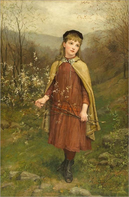 Jennie Augusta Brownscombe (1850-1936) Innocence. 1882