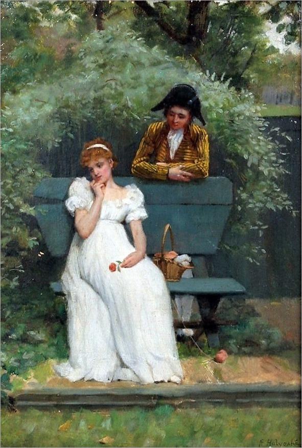 Rowland Holyoake (1880-1907) - Courting scene