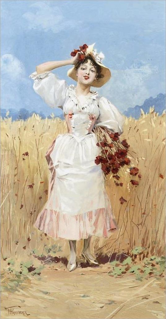Allegory-of-Summer-Frederik-Henrdik-Kaemmerer-Oil-Painting