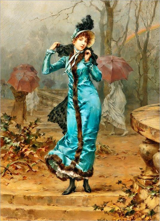 Frederick Hendrik Kaemmerer (1839-1902) Shelfer from the storm