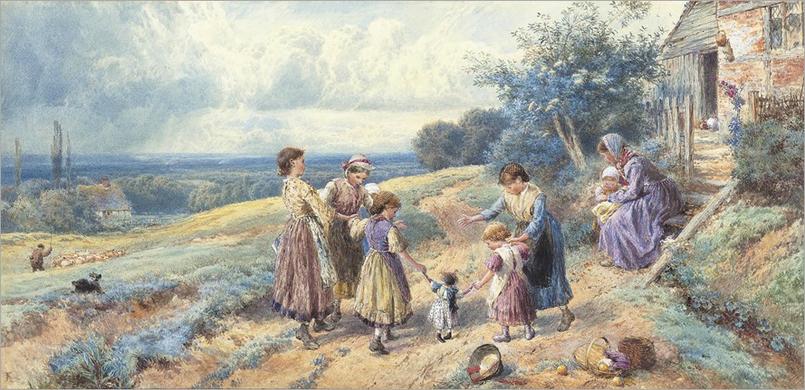 2011_CKS_07973_0032_000(myles_birket_foster_rws_children_playing_outside_a_farmhouse_a_shepher)