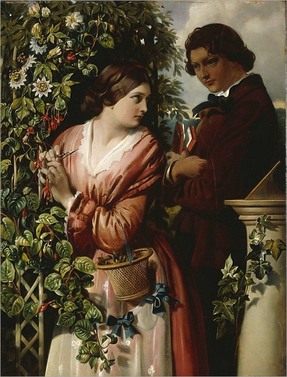 a-bower-with-passion-flowers-1865-Daniel-Maclise