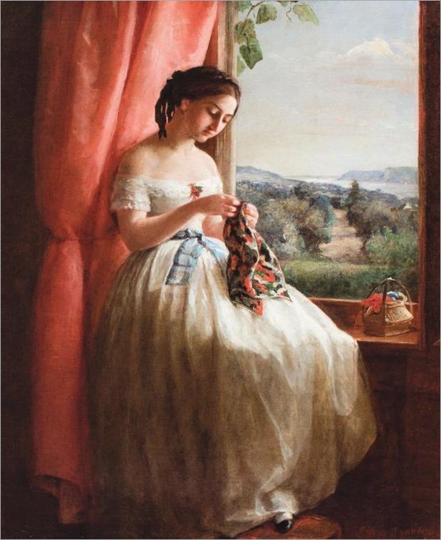 george cochram lambdin-in a window-detail