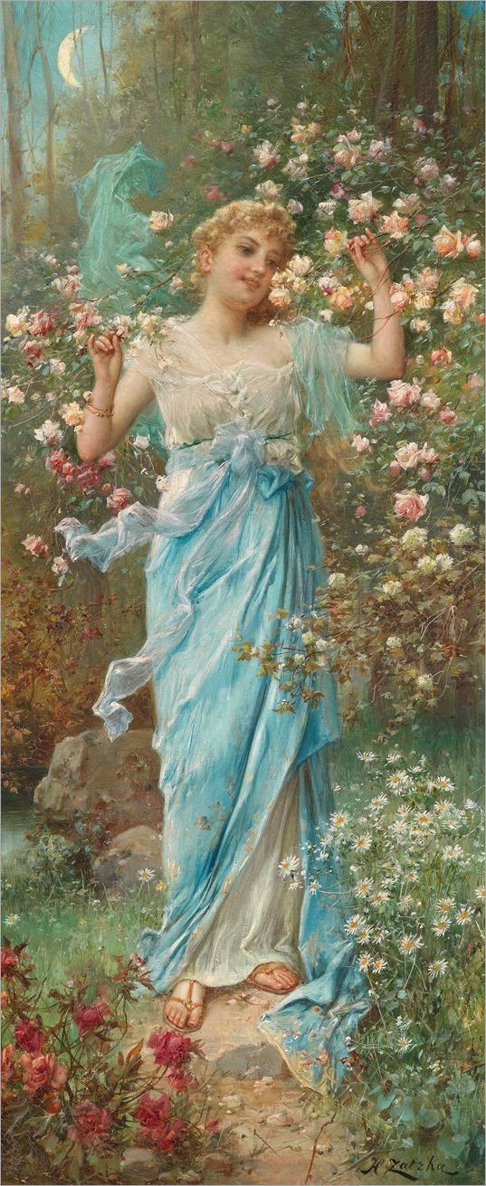 Hans Zatzka (Wien 1859-1945) -Blumenreigen