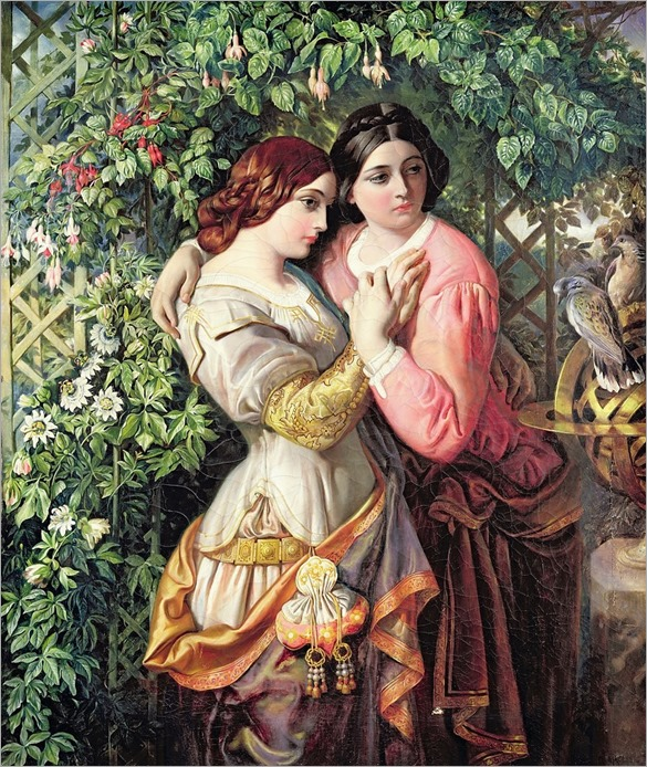 Rosalind and Celia - Daniel Maclise-1845