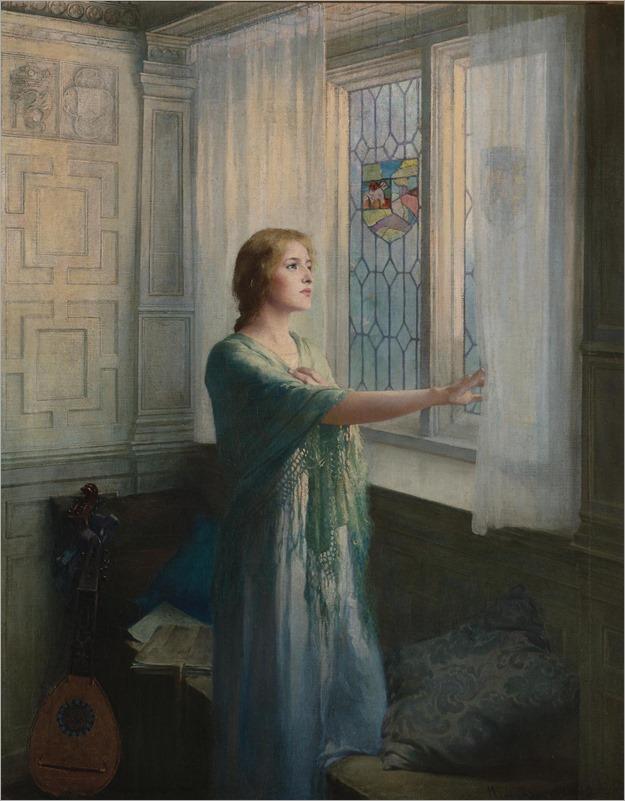 William Ladd Taylor (1854 - 1926) - Awaiting his return