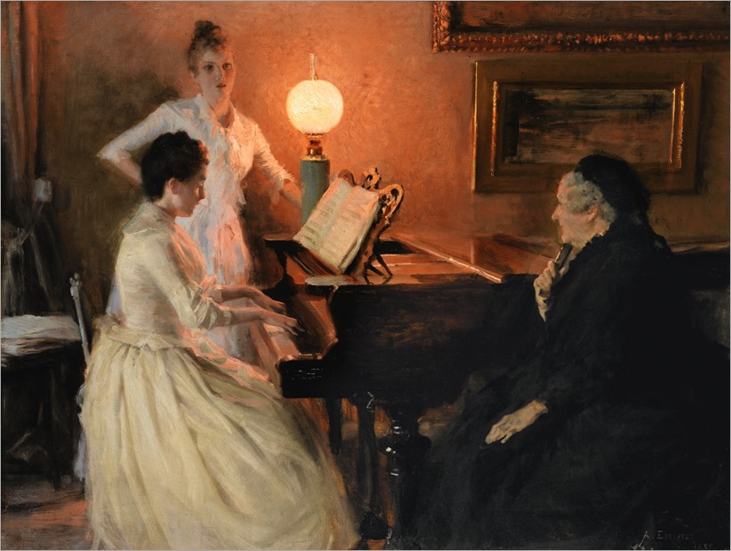 albert edelfelt-finnish1854-1905-au piano