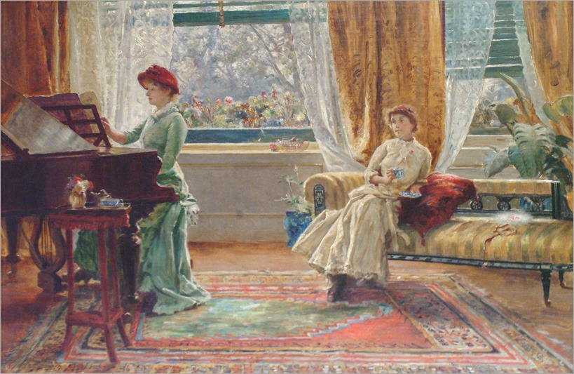 arthur trevor haddon (british, 1864-1941)-the afternoon recital