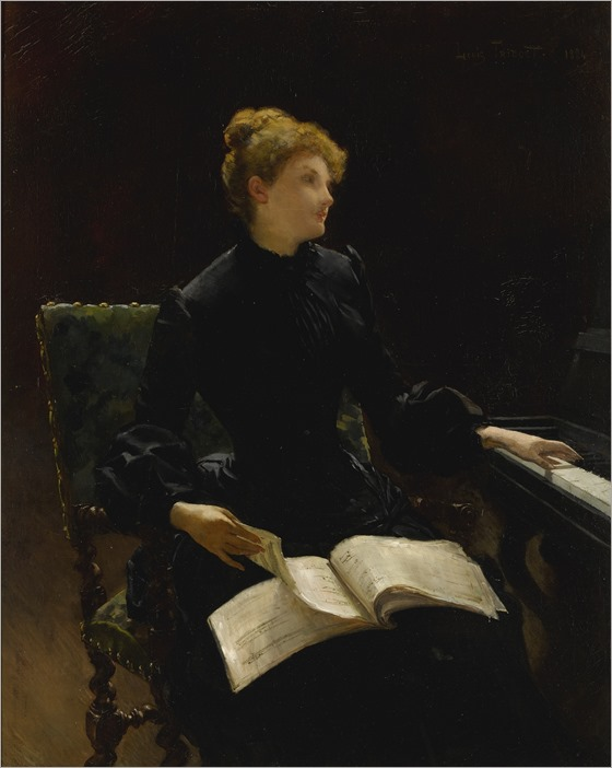louis tribout_The piano lesson, 1884