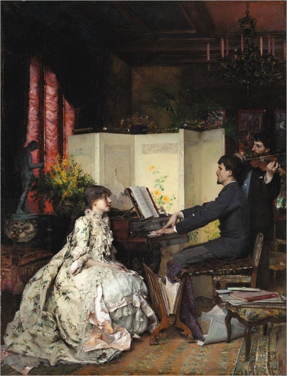 Pascal Adolphe Jean Dagnan-Bouveret - The Duet [1883]