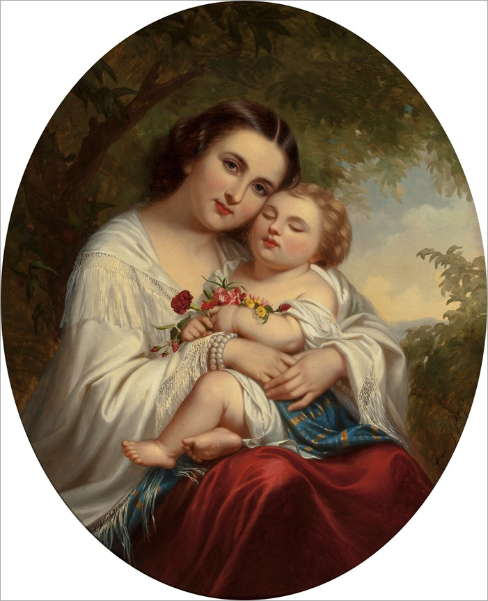 fanny geefs-mother and child