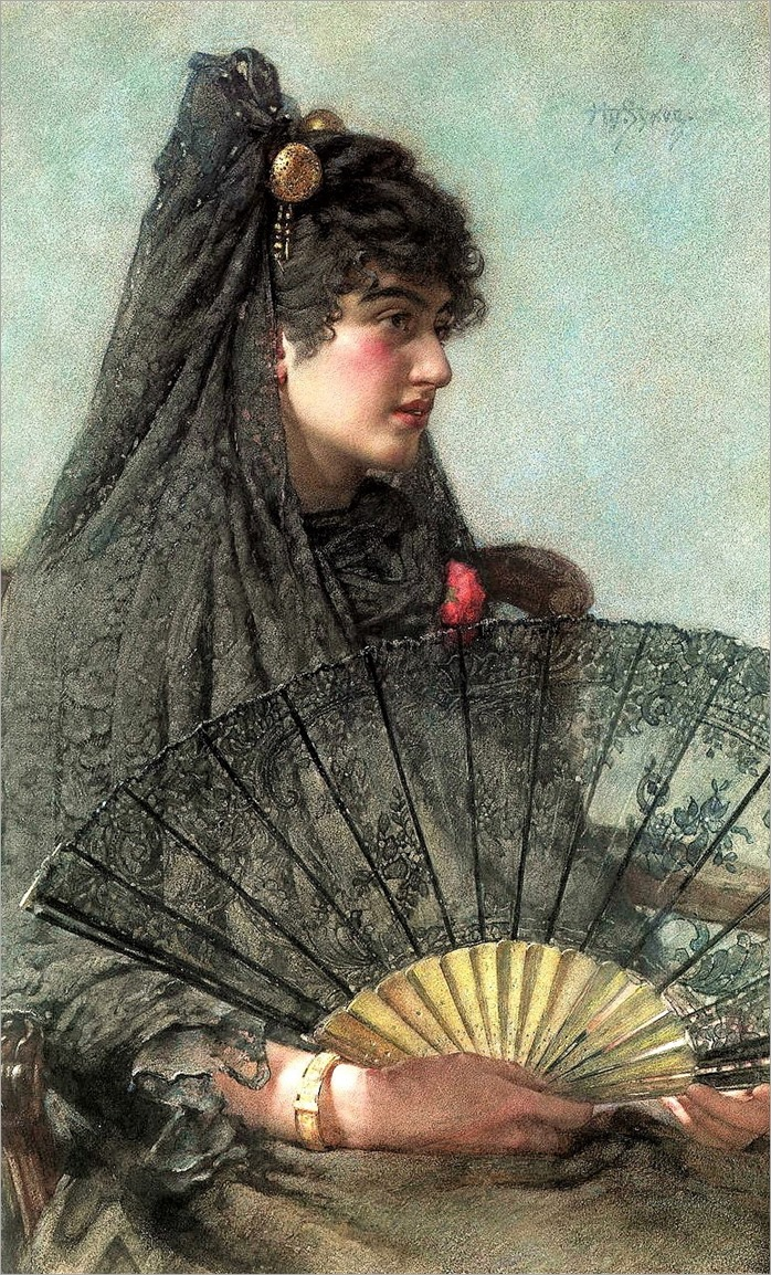 Henry Sykes-1855-1921-spanish woman