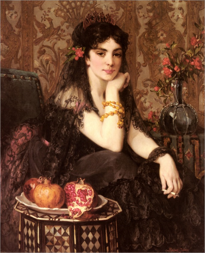 Jeune femme au granada - Paul Saint-Jean