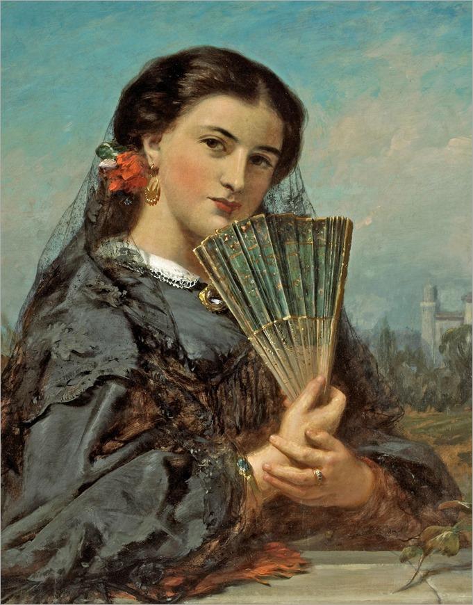 John Phillip(british,1817-1867)-Uma beleza espanhola