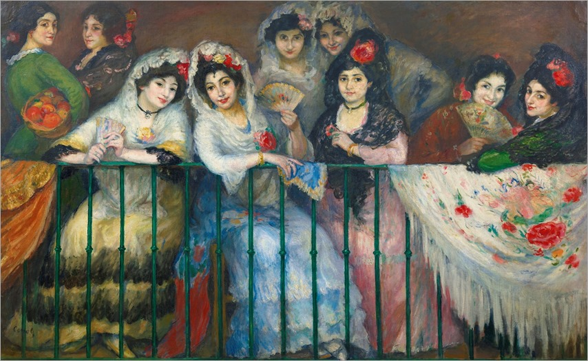 Ricardo Canals (spanish, 1876-1931)-a balcony at the bullfight