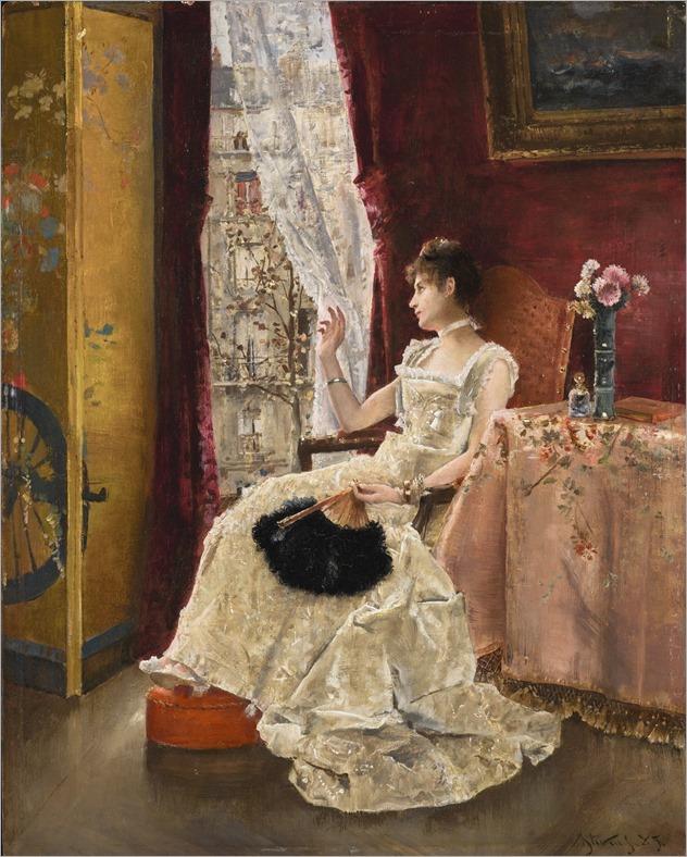 Alfred Stevens (belgian,1823-1906)-Reverie