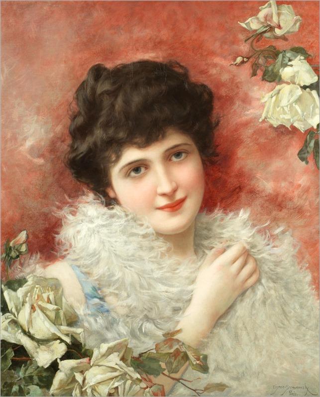 Emile Eisman-Semenowsky (polish-french,1857-1911) Isabella
