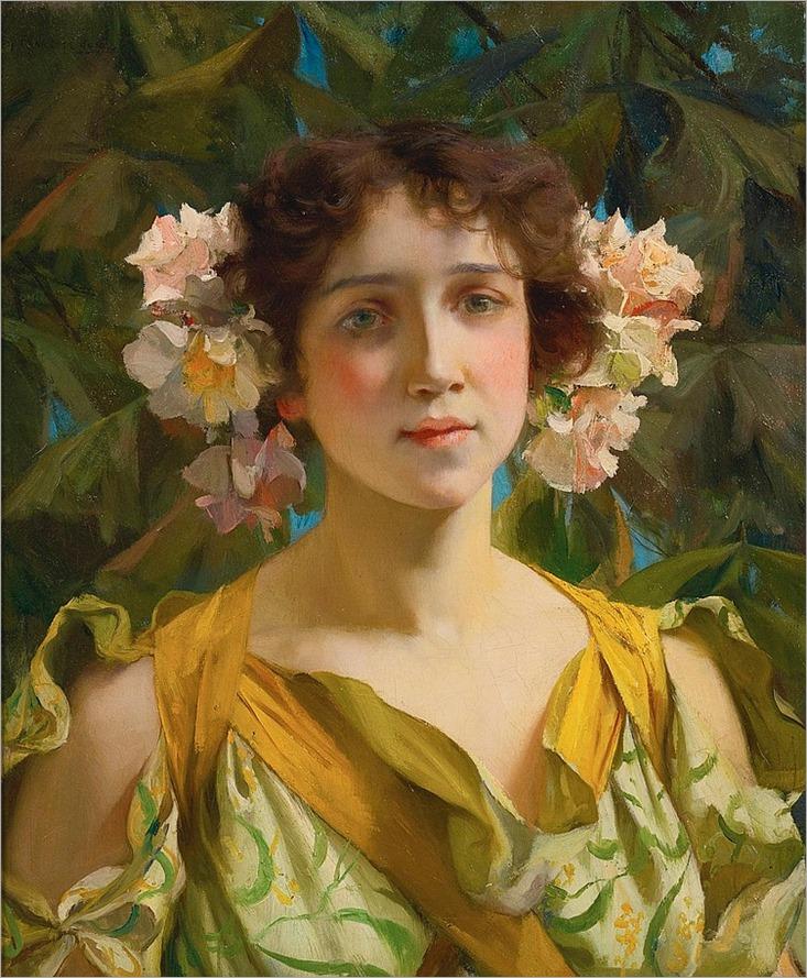 FRANCIS COATES JONES, American (1857-1932)-springtime