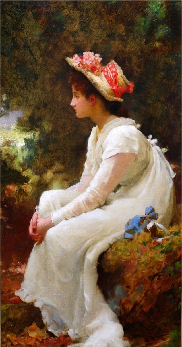 Marcus Stone _Reverie_1896