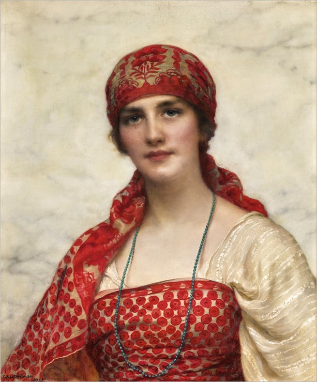William Clarke Wontner (1857-1930) The Emerald Necklace