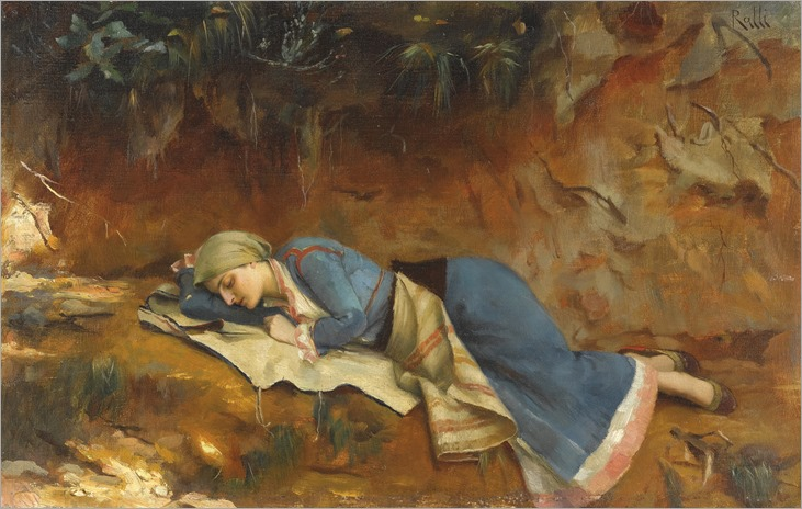 resting greek girl-Theodoros Ralli