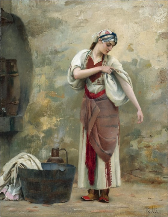 the laundress - Theodoros Ralli